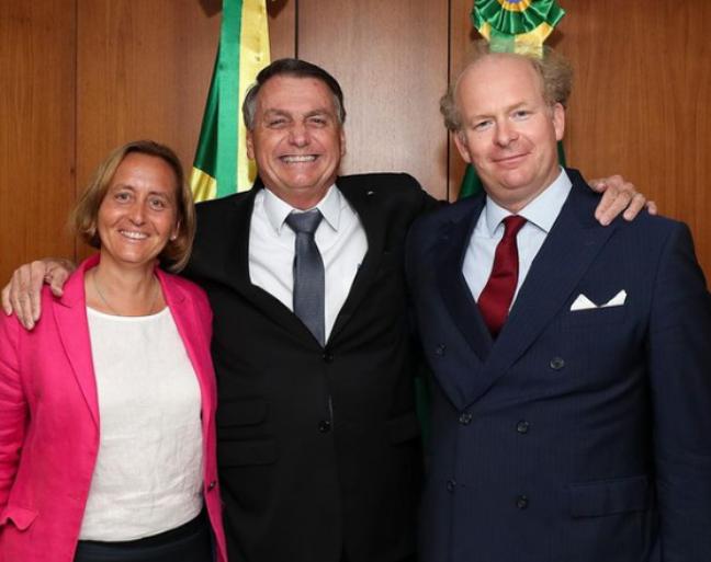 Von Storch postou foto de encontro com Bolsonaro em sua conta no Instagram