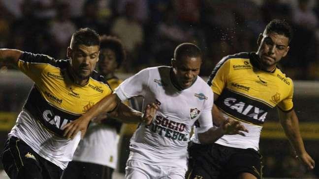 Como visitante, Fluminense amargou cinco derrotas para o Criciúma (FOTO NELSON PEREZ/FLUMINENSE F.C.)