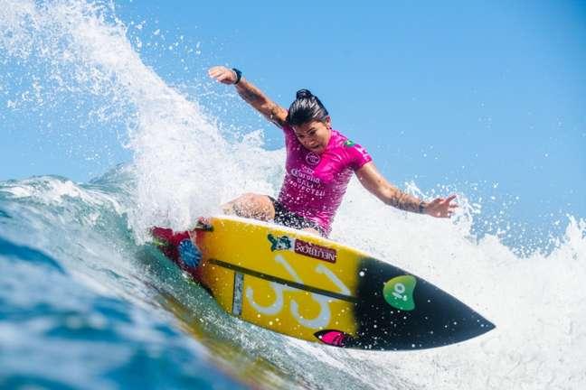 Silvana Lima está nas quartas de final do surfe nos Jogos Olímpicos (Foto: WSL)