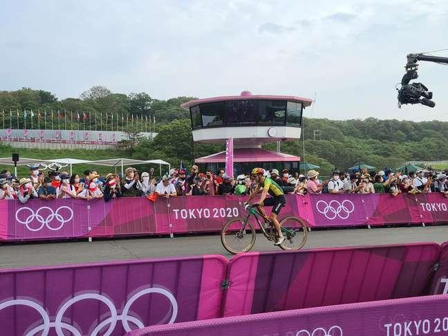Henrique Avancini termina a prova de Cross Country Olímpico (XCO) em 13º nesta segunda-feira Reprodução Twitter @timebrasil