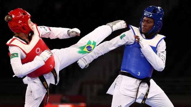 Milena Titoneli perdeu para Ruth Gbagbi, da Costa do Marfim, na disputa do bronze na manhã desta segunda-feira Murad Sezer/Reuters