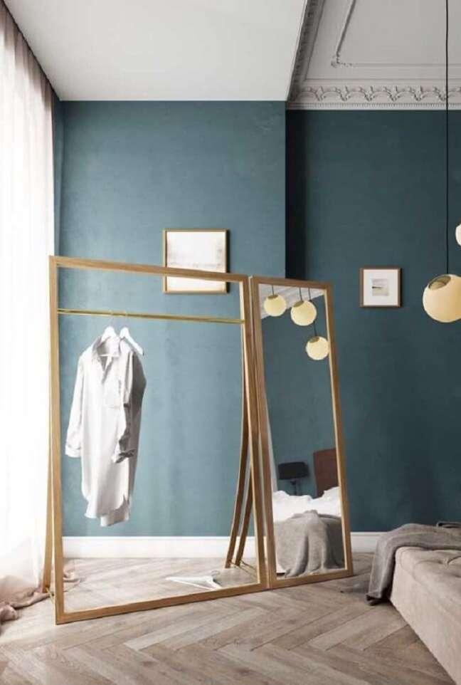 30. Arara de madeira para decoração com espelho embutido. Fonte: Pinterest
