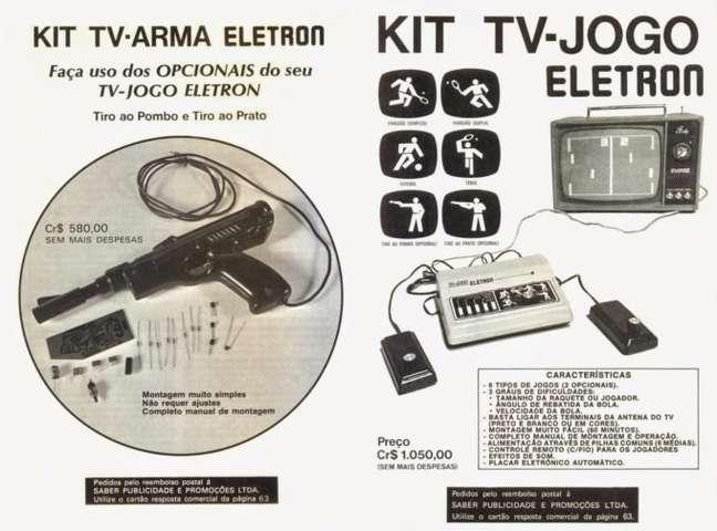 Anúncio de kit do TV-Jogo