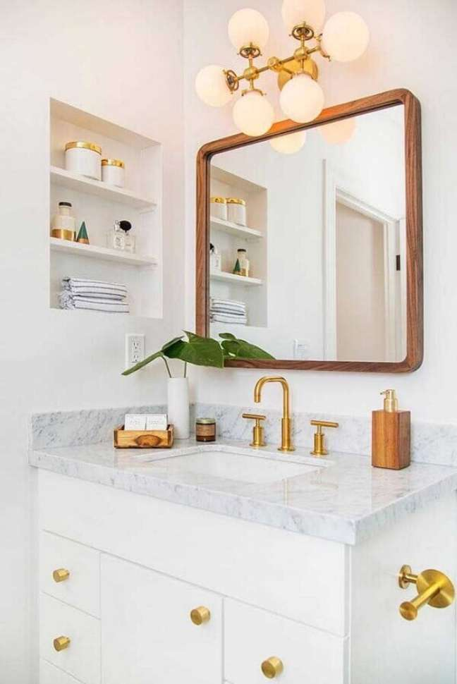 60. Nicho de embutir para banheiro moderno – Fonte Pinterest