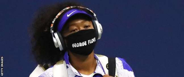 Osaka usou máscaras no US Open denunciando o racismo nos EUA