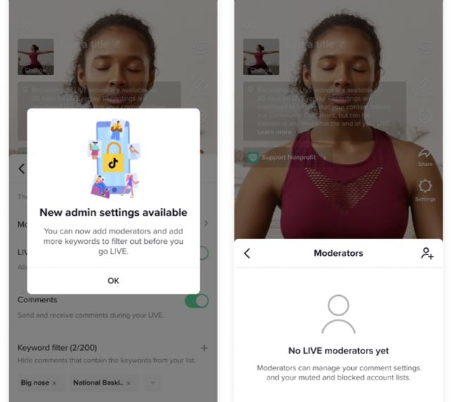 TikTok implementa moderadores para lives na plataforma