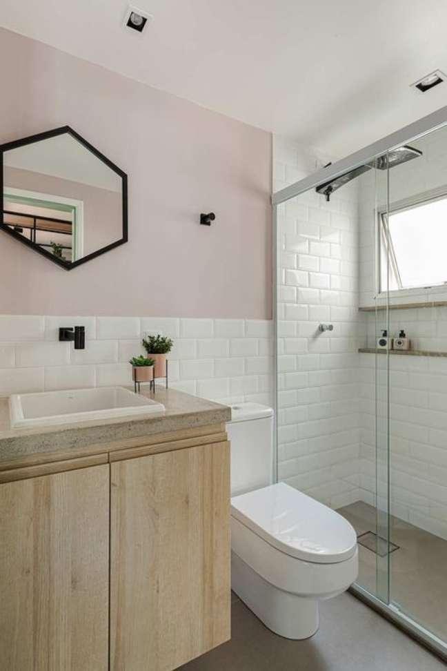 26. Nicho de embutir para banheiro moderno – Foto casa de Valentina