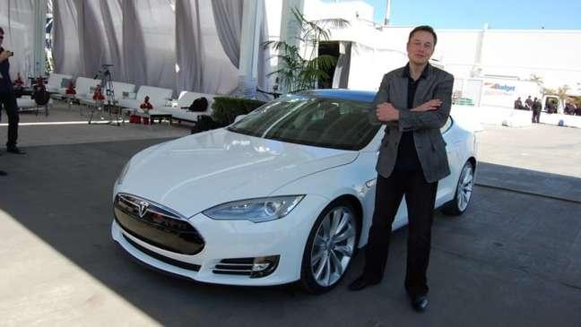 Elon Musk na fábrica da Tesla em Fremont, Califórnia