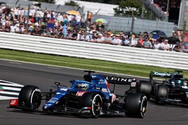 Fernando Alonso saiu muito contente do GP da Inglaterra, onde foi sétimo colocado