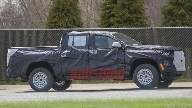 Nova Chevrolet Colorado em testes nos EUA.
