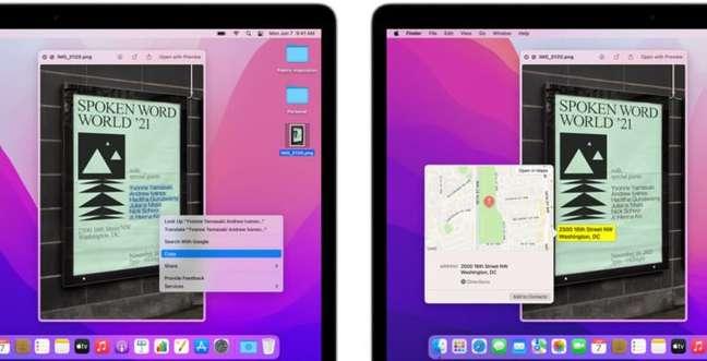 Live Text no macOS Monterey