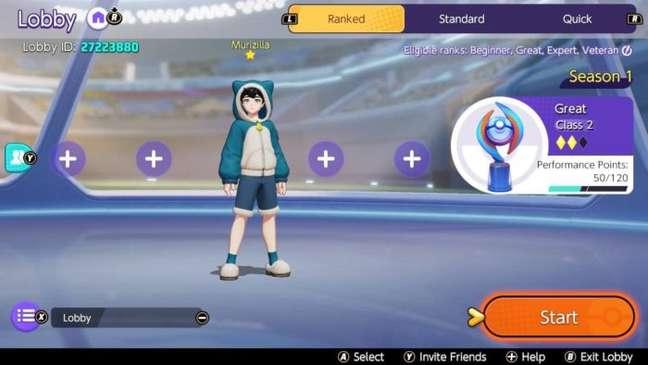 Suba de elo nas ranqueadas de Pokémon Unite
