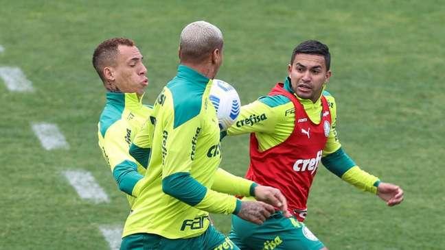 O Palmeiras encerrou a preparação para o duelo contra o Atlético-GO pelo Brasileirão (Foto: Cesar Greco/Palmeiras)