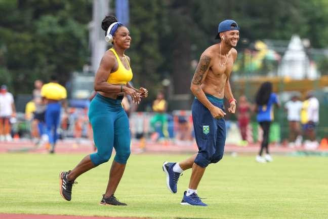 Rosangela Santos e Márcio Telles treinando para a estreia nos Jogos. (Foto: Divulgação/Wagner Carmo)