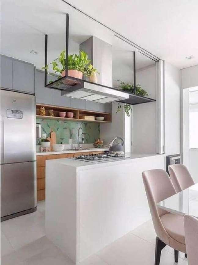 4. Conheça os diferentes modelos de cozinha estilo americana – Foto: Jeito de Casa