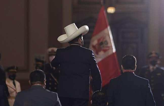 Presidente eleito do Peru, Pedro Castillo, em Lima 28/07/2021 REUTERS/Angela Ponce
