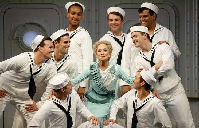 """Musical """"Anything Goes"""" estreia em teatro de Londres 28/07/2021 REUTERS/Peter Nicholls"""