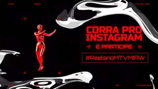Promoção do MTV MIAW com a hashtag para participar