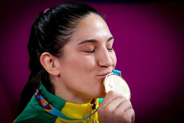 Mayra Aguiar foi ouro nos Jogos Pan-Americanos de Lima (Foto: Wander Roberto/COB)