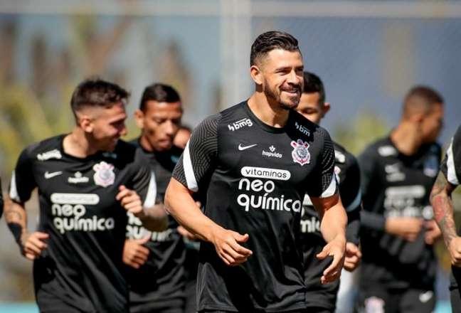 Corintiano, Giuliano disse estar realizando um sonho no clube (Foto: Rodrigo Coca/Ag. Corinthians)