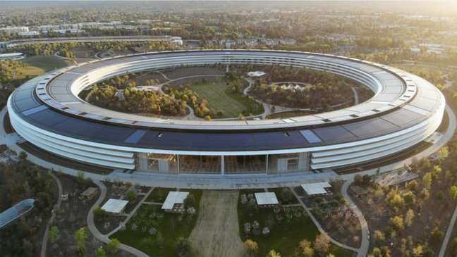 """Campus """"Infinite Loop"""" da Apple, em Cupertino, na Califórnia"""