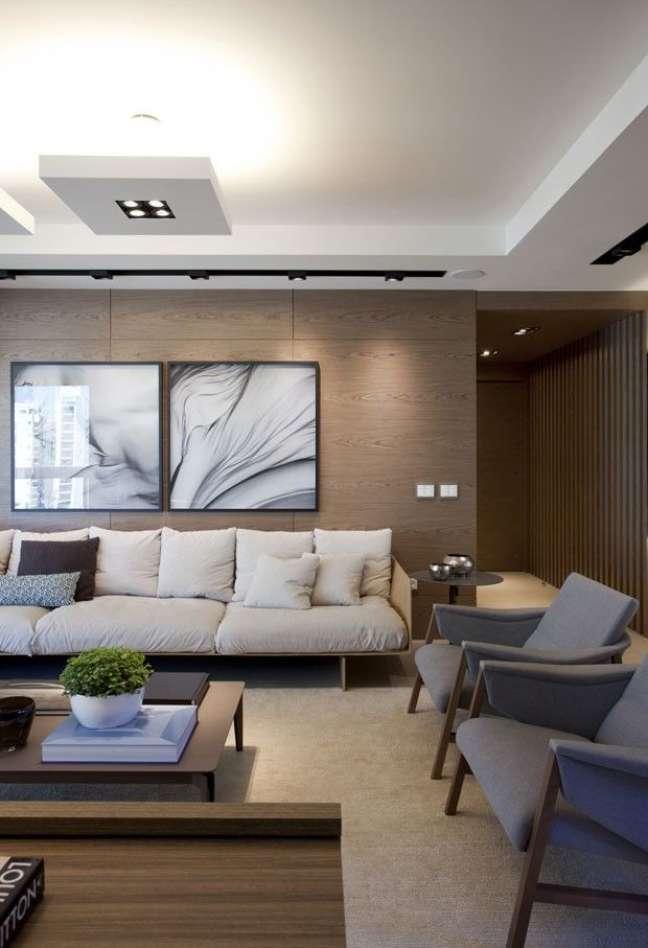 4. Sala de espera decorada com sofás e poltronas confortáveis – Foto Casa Tres chic