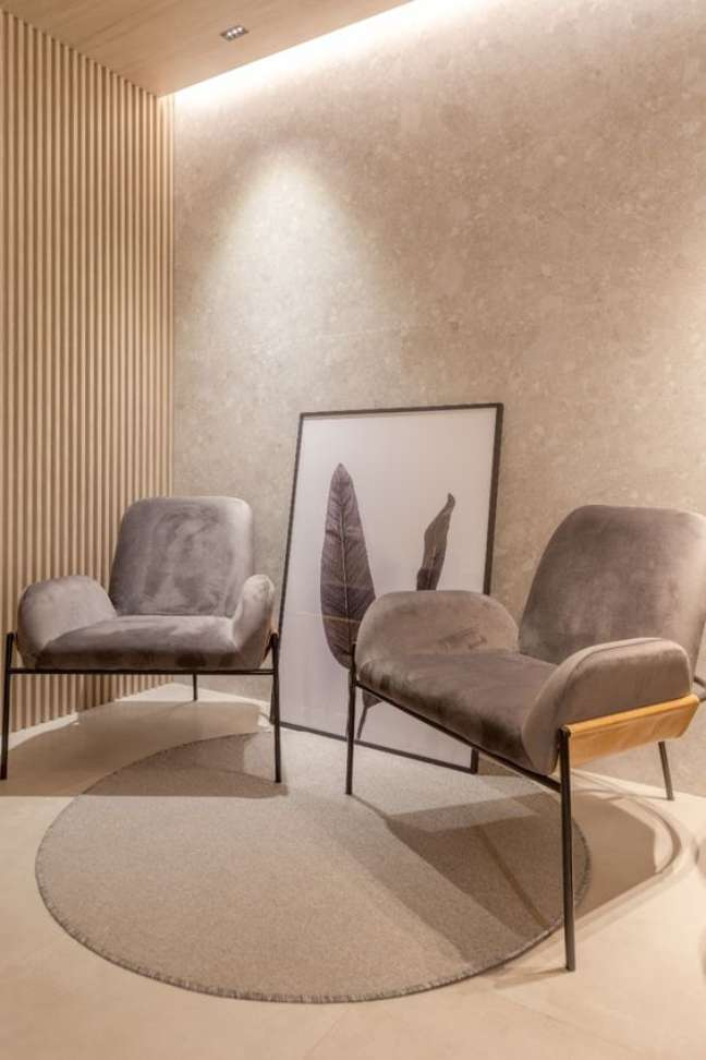 31. Decoração minimalista para sala de espera – Foto Fratelli Housa