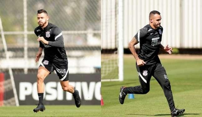 Giuliano e Renato Augusto devem estrear no dia 8 de agosto, diante do Santos (Foto: Montagem/Ag. Corinthians)