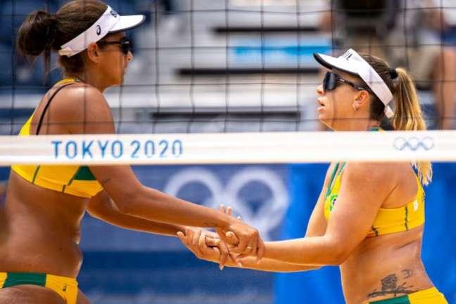 Ana Patrícia e Rebecca voltam para jogar a Olimpíada de Tóquio (Foto: Miriam Jeske/COB)