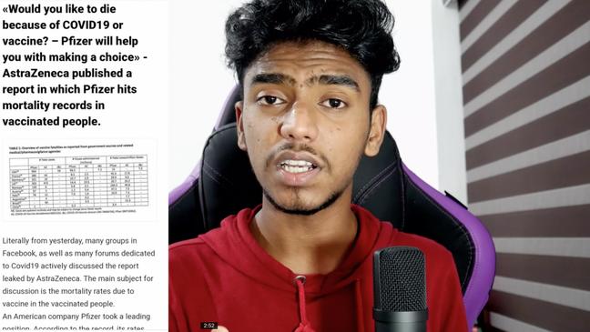 O indiano Ashkar Techy compartilhou dados duvidosos em seu vídeo