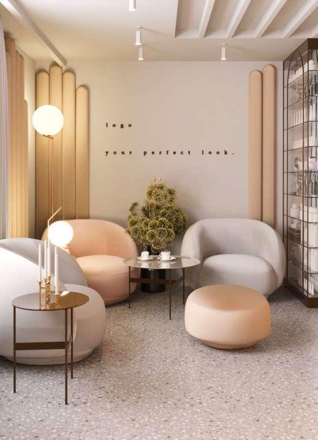 48. Sala de espera com móveis confortáveis e agradáveis – Foto Behance