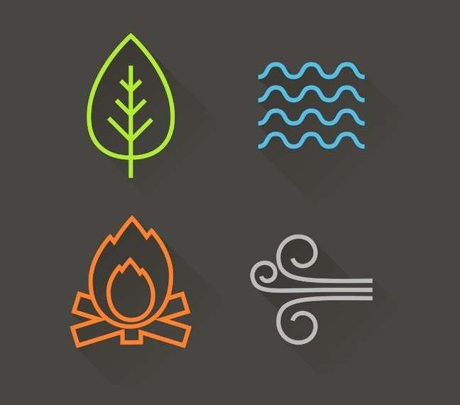 Fogo, Terra, Ar e Água - Shutterstock