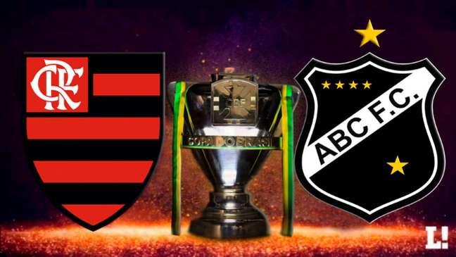 Flamengo e ABC medem forças pelas oitavas da Copa do Brasil (Foto: Arte LANCE!)