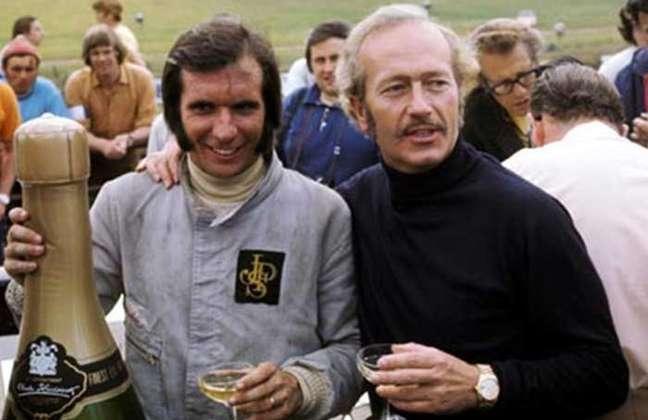 Emerson Fittipaldi e Colin Chapman.