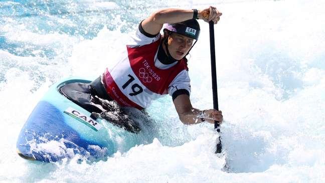 Haley Daniels, do Canadá, competindo nos Jogos Olímpicos de Tóquio Yara Nardi/Reuters