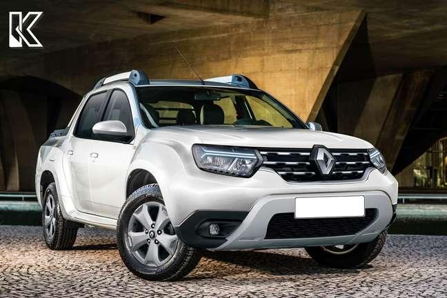 Nova Renault Oroch renderizada por Kleber Silva.