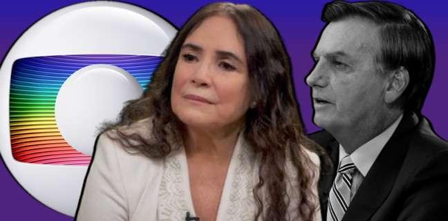 Em razão de seu bolsonarismo, Regina Duarte foi escrachada por vários 'colegas' da Globo