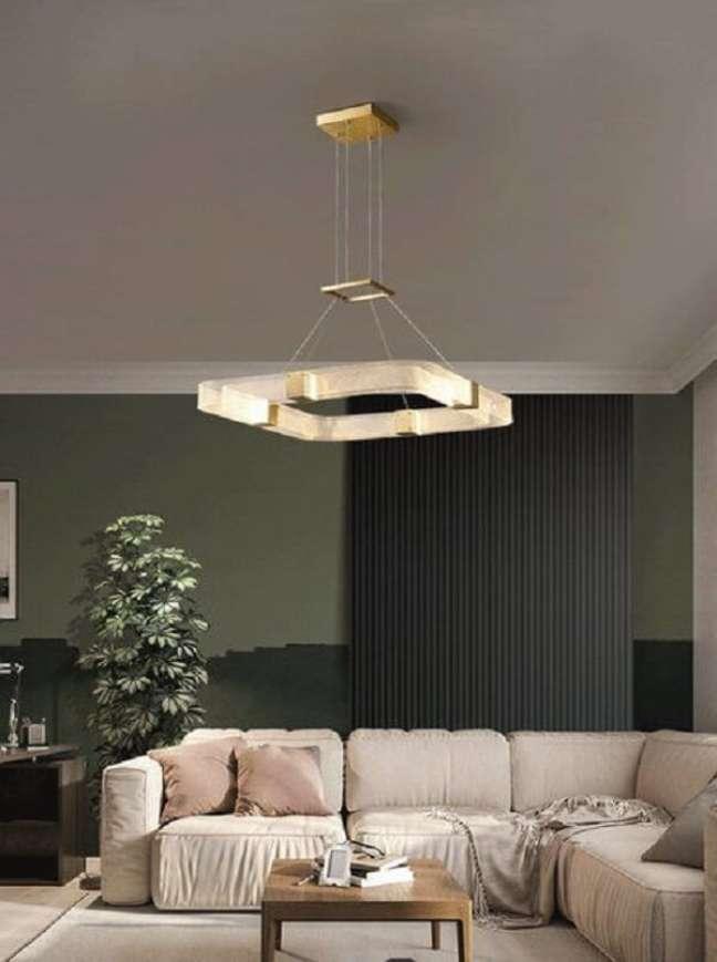 1. Lustre quadrado pendente para sala de estar moderna – Foto Lighting Studio Berkeley