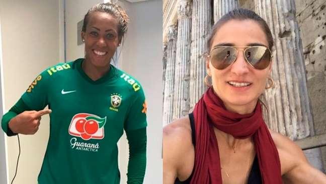 'Opsicológico é algo que você trabalha todo dia e juntas', disse Pia Sundhage em relação à treta entre Bárbara e a canoísta Andréa Pontes (Montagem LANCE!