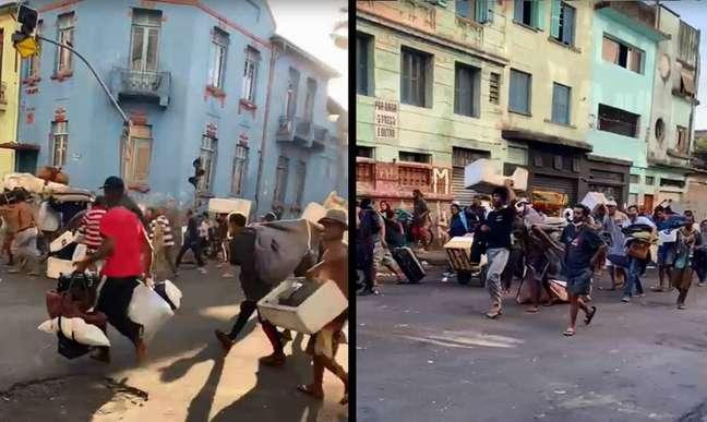 Imagens da Polícia Civil mostram deslocamentos contínuos na região da Cracolândia