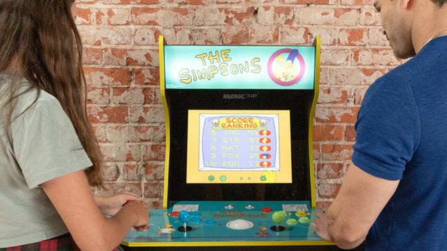 Fliperama de Os Simpsons da Arcade1Up