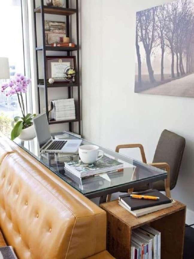 46. Home office na sala pequena – Foto Revista Vd