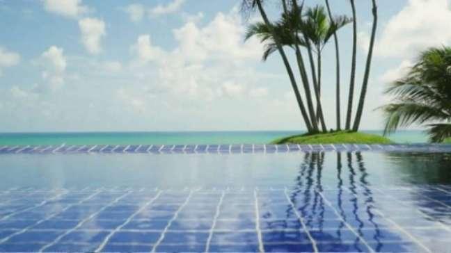 Visão da piscina (Reprodução)