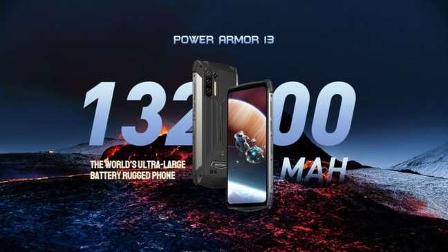 Ulefone Power Armor 13 tem bateria de 13.200 mAh