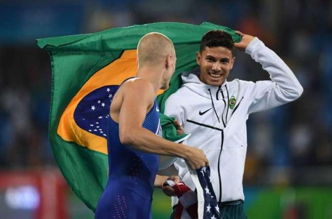 Sam Kendricks foi bronze nos Jogos Olímpicos Rio 2016 (Foto: Johannes EISELE / AFP)