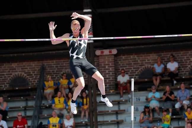 Sam Kendricks compete na Diamond League em Estocolmo 04/07/2021 TT News Agency via REUTERS/Christine Olsson/tt