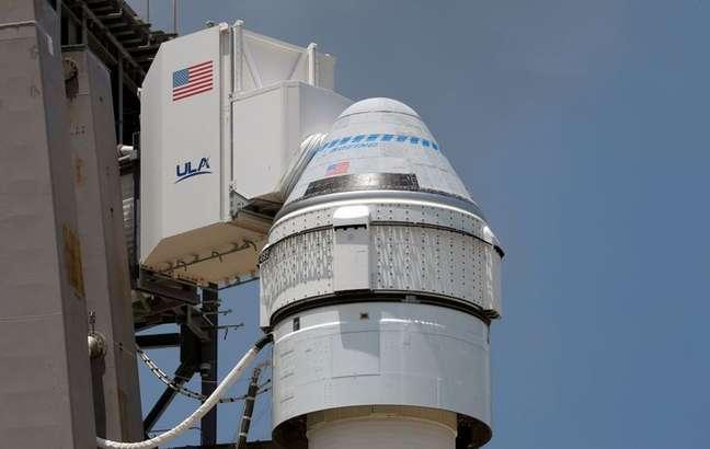 Cápsula em foguete da Nasa preparado para lançamento. 29/7/2021. REUTERS/Joe Skipper