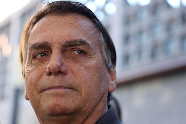 Presidente Jair Bolsonaro ao deixar hospital em São Paulo 18/07/2021 REUTERS/Amanda Perobelli