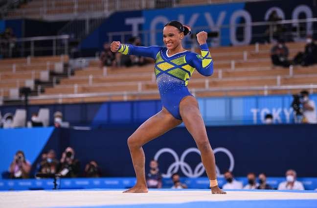 Rebeca Andrade é medalha de prata