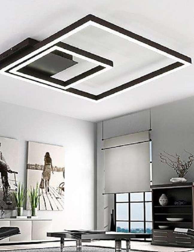 23. Lustre quadrado moderno para sala de estar – Foto Amazon